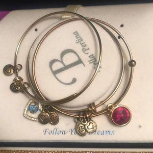 Bella Perlina 3 Charm Bracelet Gold Colored